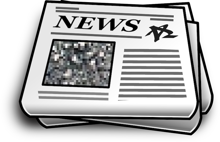 Graphic depicting generic newspaper
