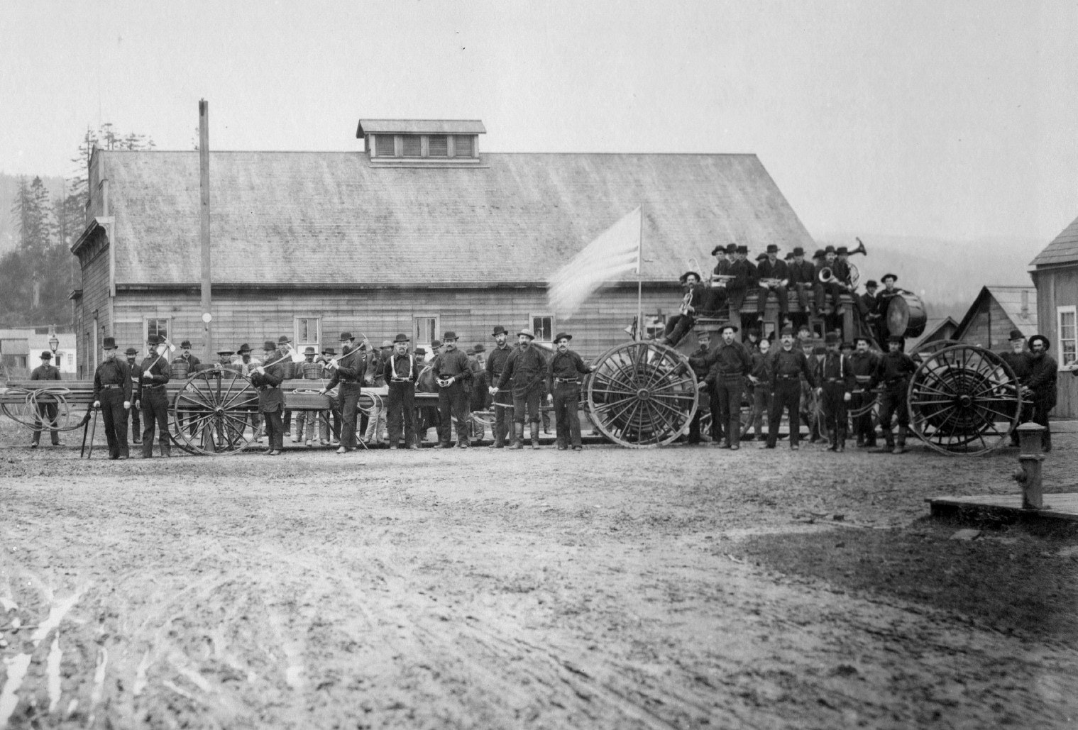 Historic photo from 1887 of the firefighters