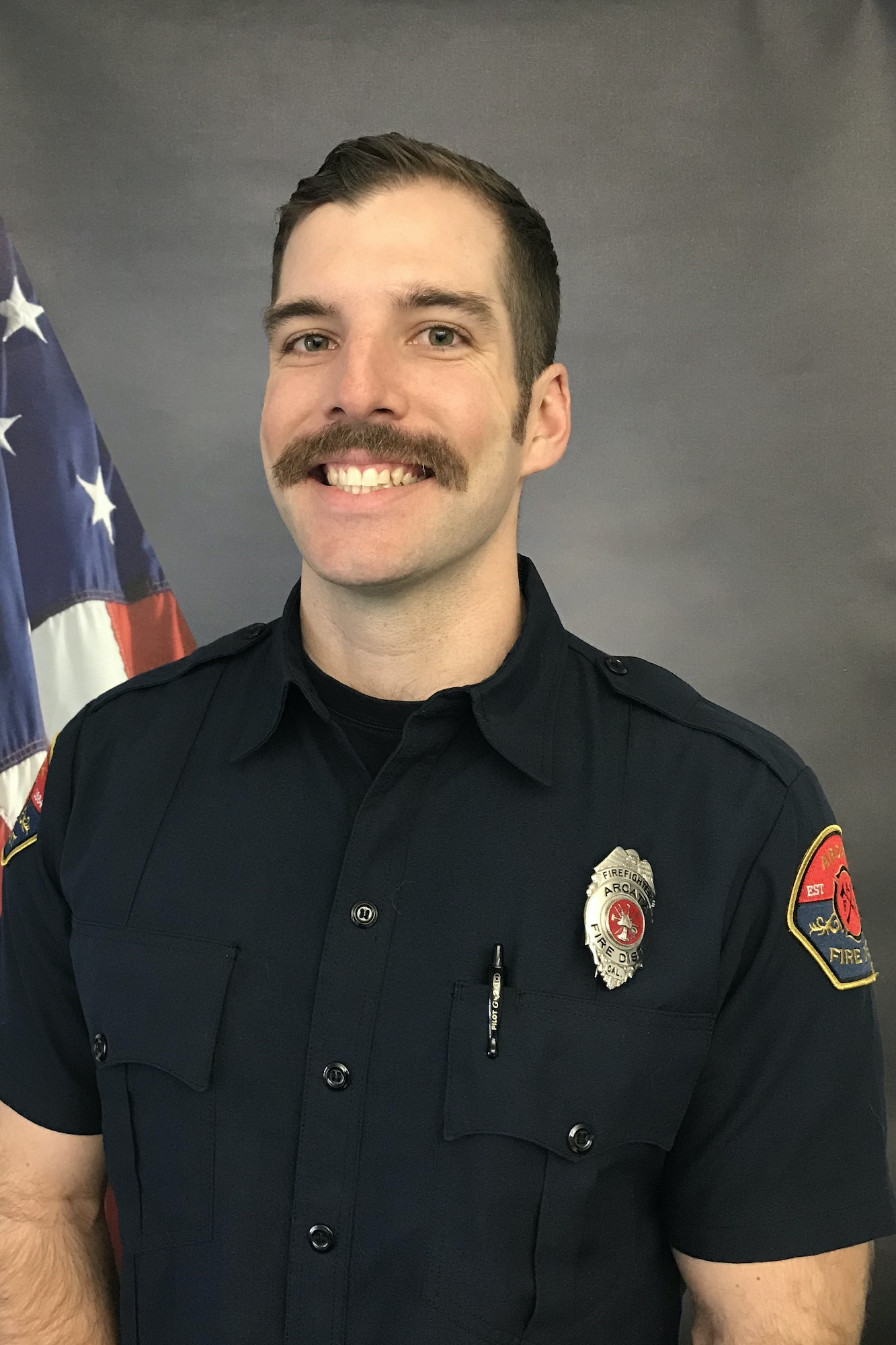 Staff photo of a Volunteer Fire Fighter.