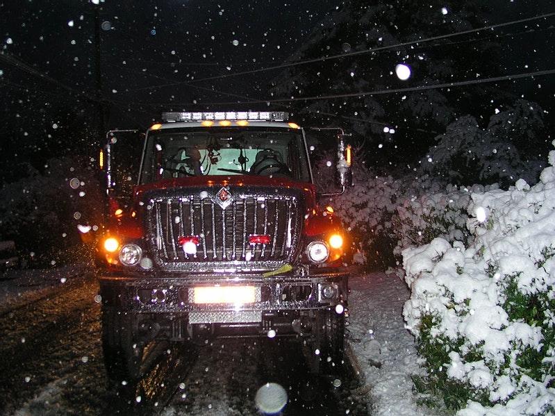 E8239 in the snow.