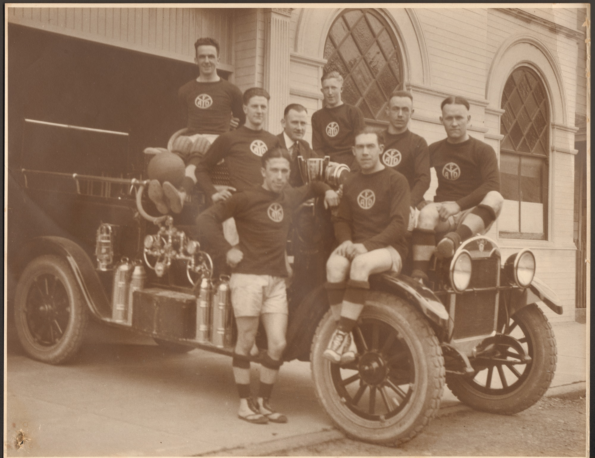 Historical Photo of fire engine