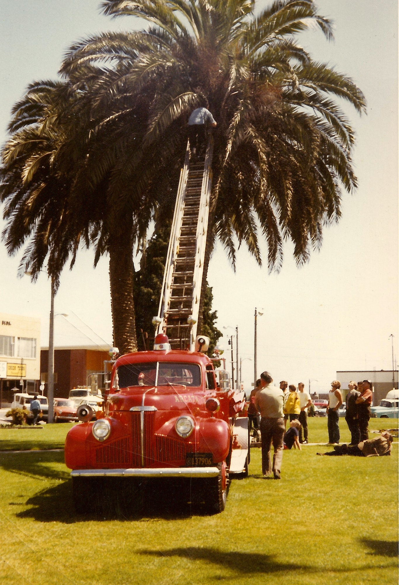Old photo of Ladder Truck