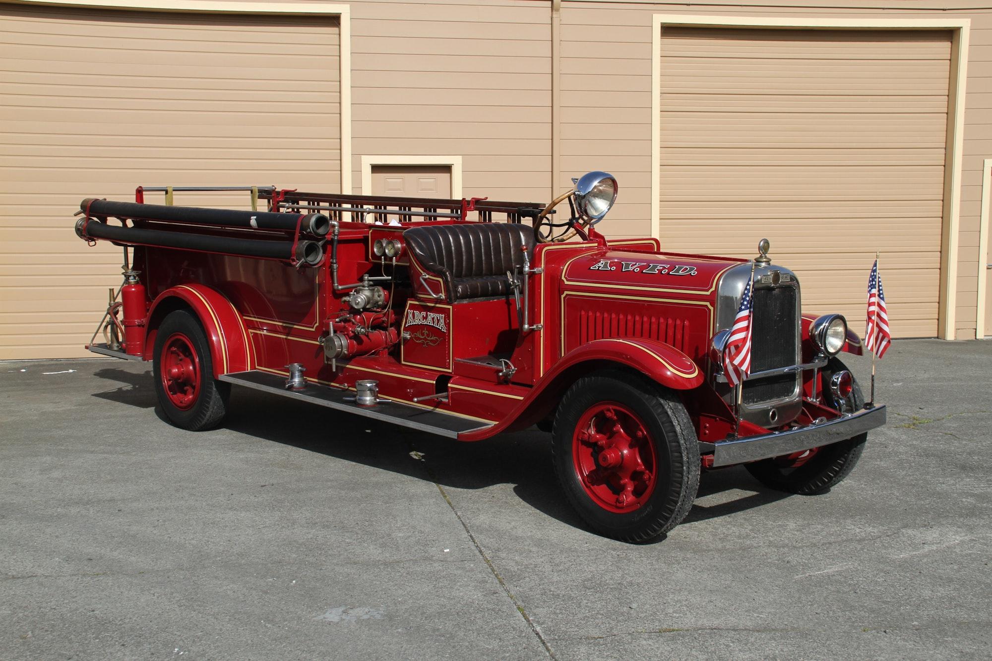 Antique American La France Fire Engine.