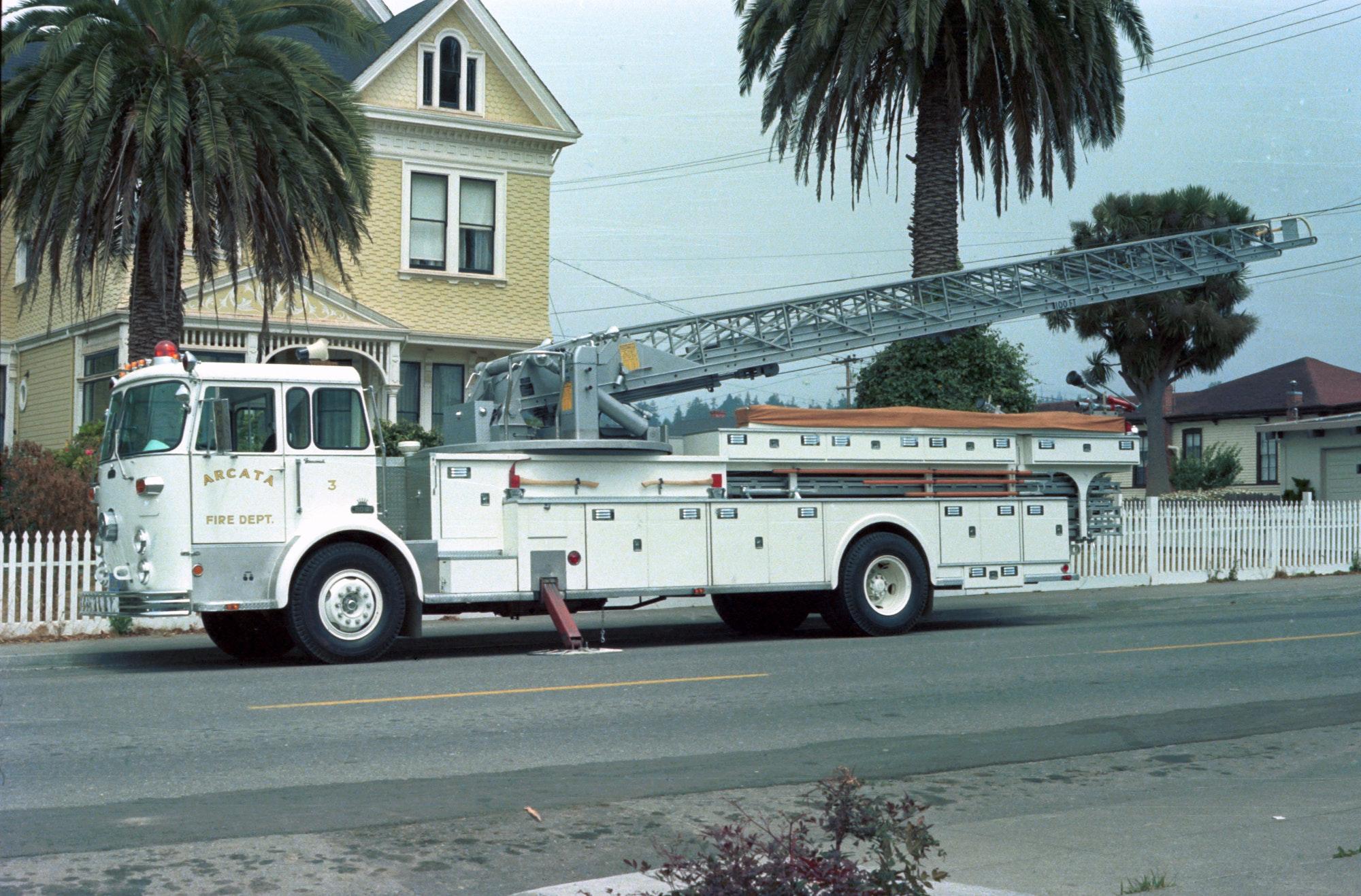 photo of ladder truck