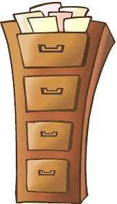 File drawer cartoon image