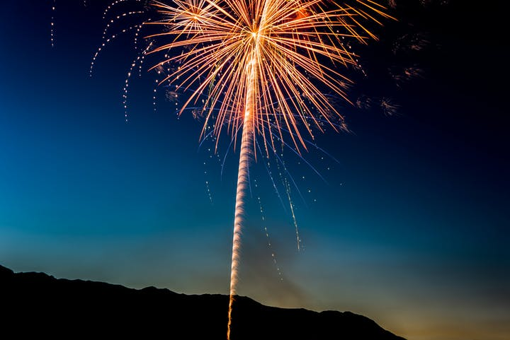 Night time fireworks.