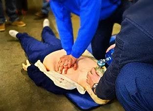 Photo of chest compressions