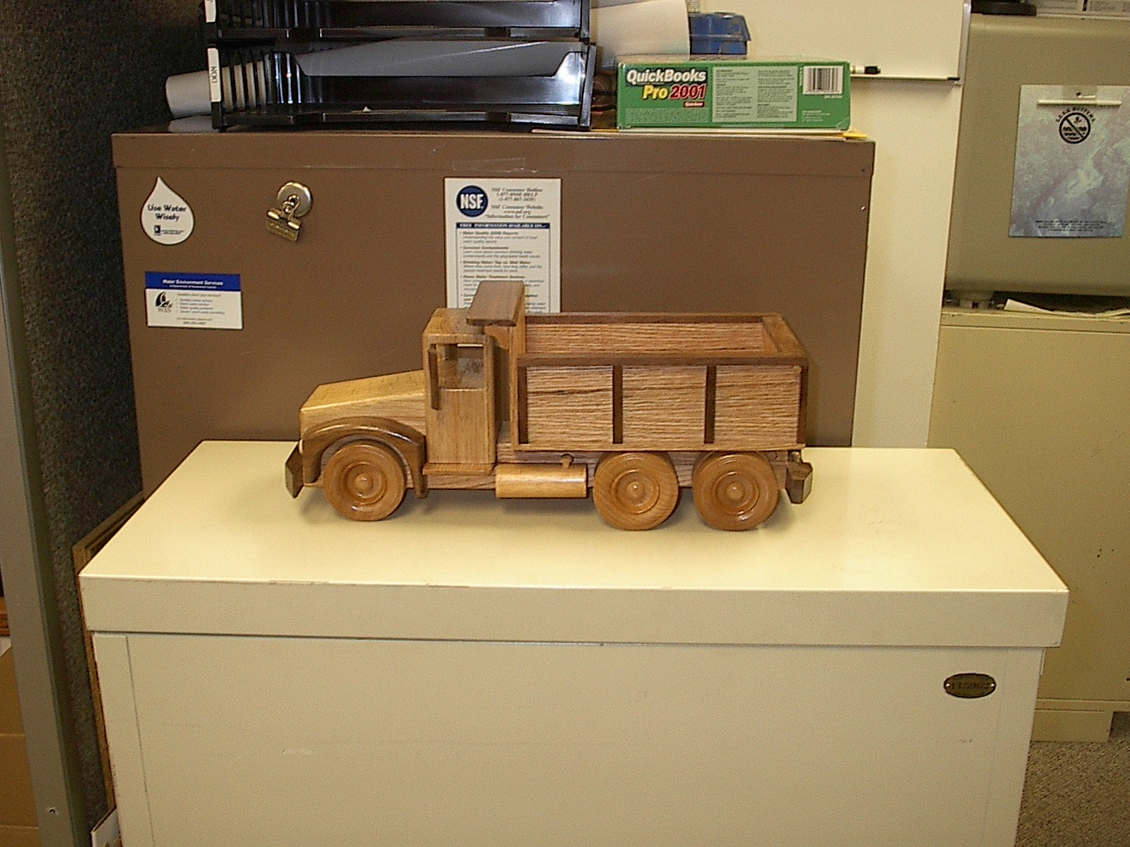 Toy dump truck that Rick built and donated to Water for People Auction