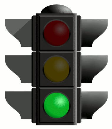 May contain: traffic light and light