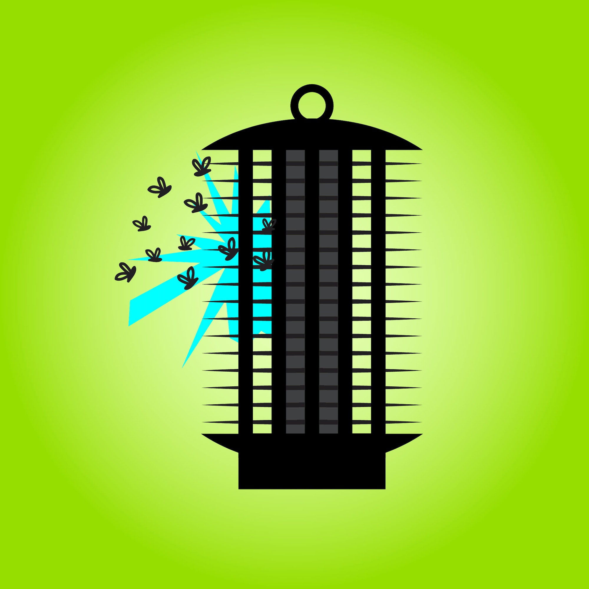 May contain: bug zapper, electricity