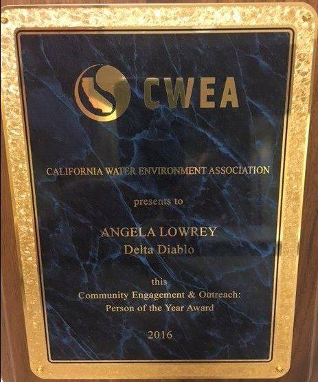 CWEA Award Plaque