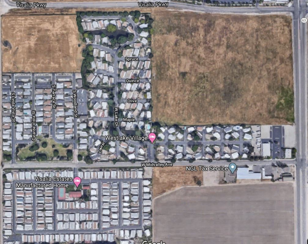 Visalia  Midvalley  WALS Larvicide Map