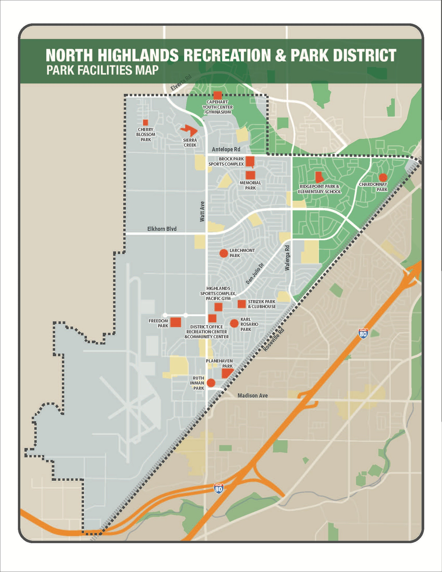Park and Facility Map