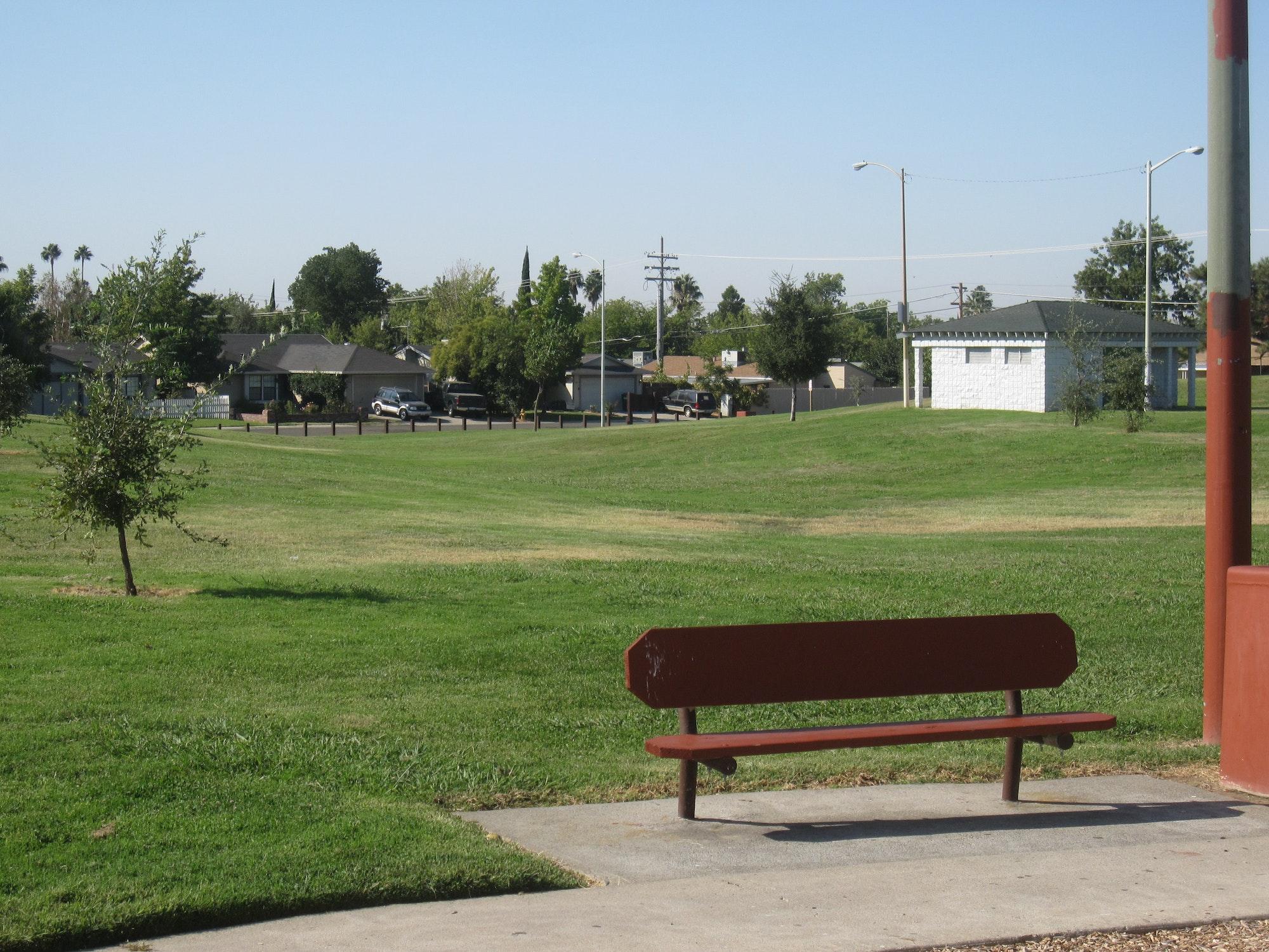 Memorial Park open grass space