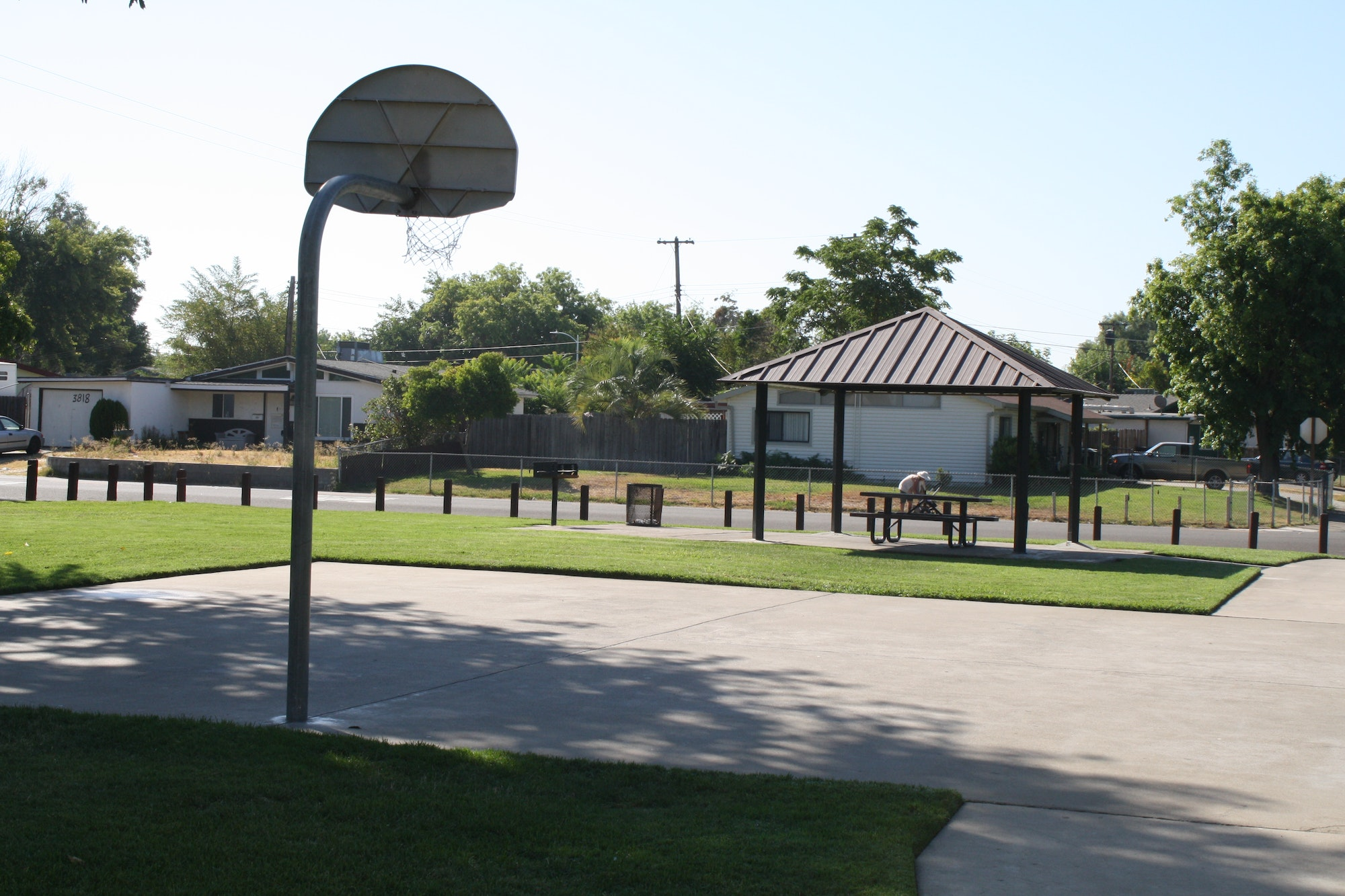 Karl Rosario Park basketball court and covered picnic area