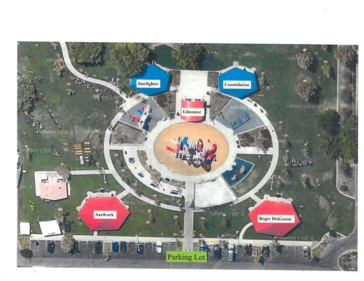 Freedom Park pavilion map