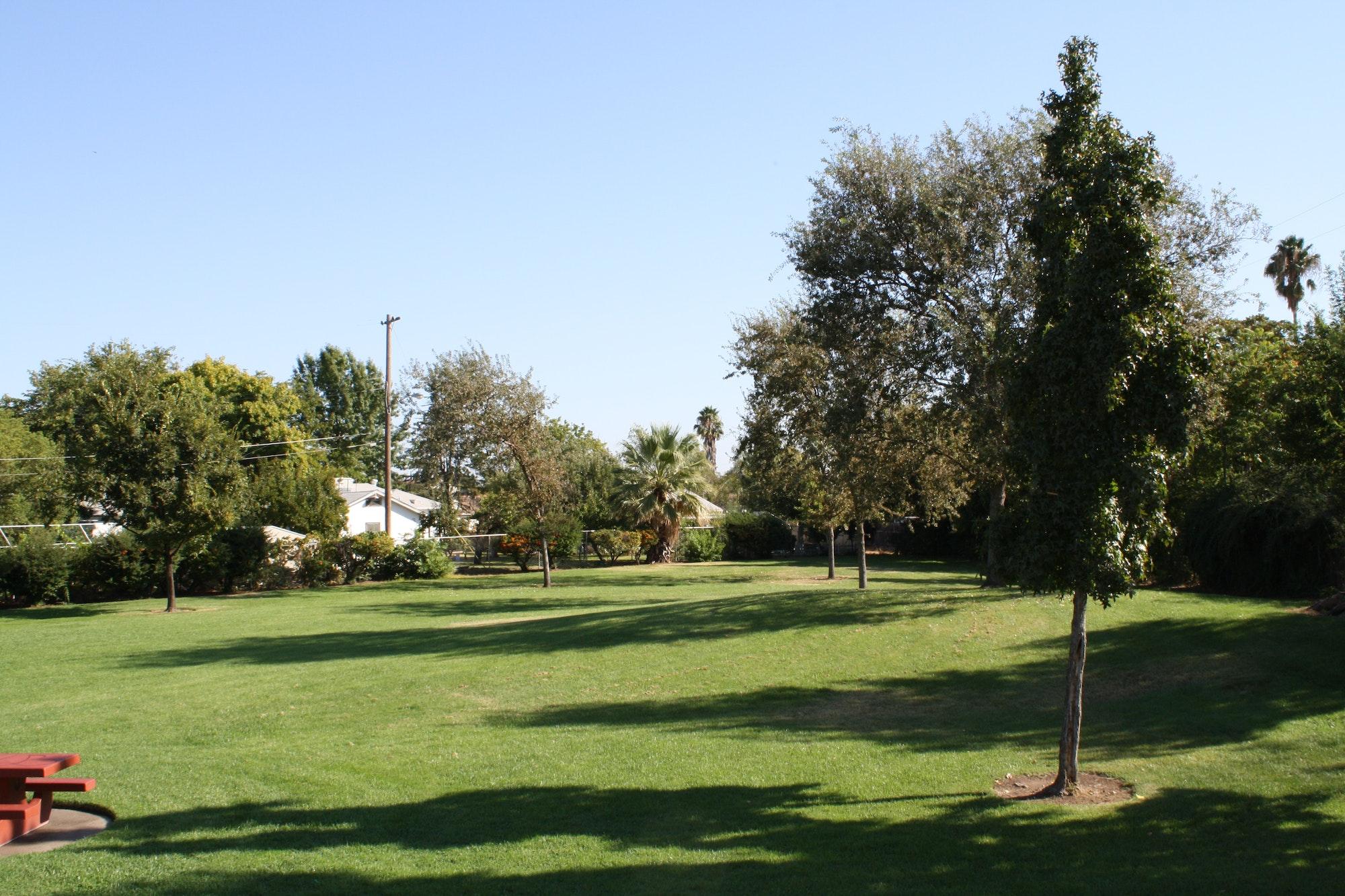 Planehaven Park open grass space
