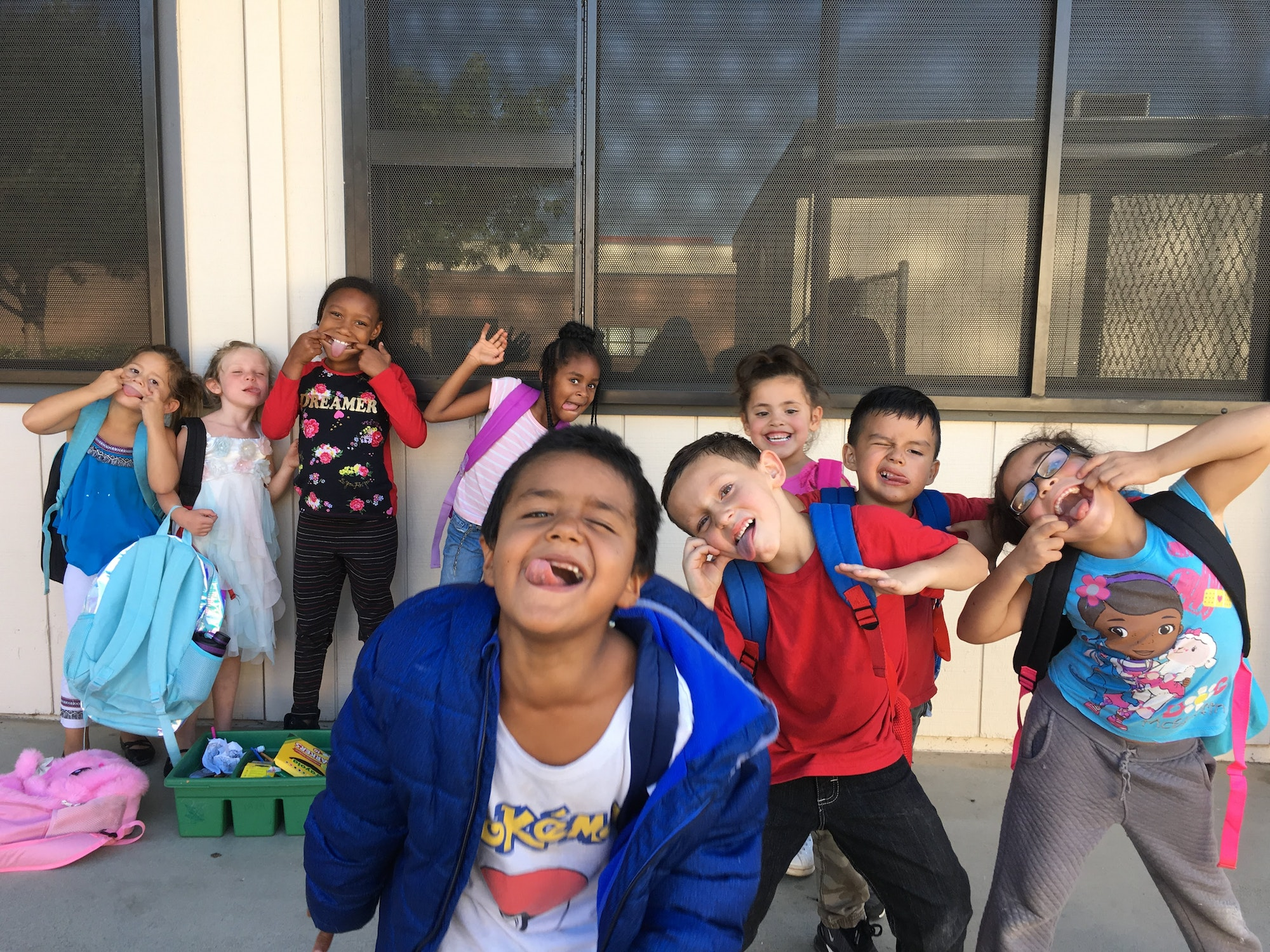 Students making silly faces