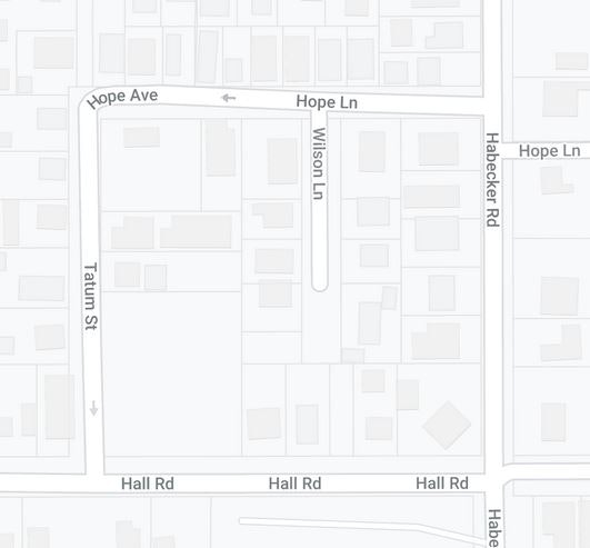 Map of Hope/Wilson Street Area