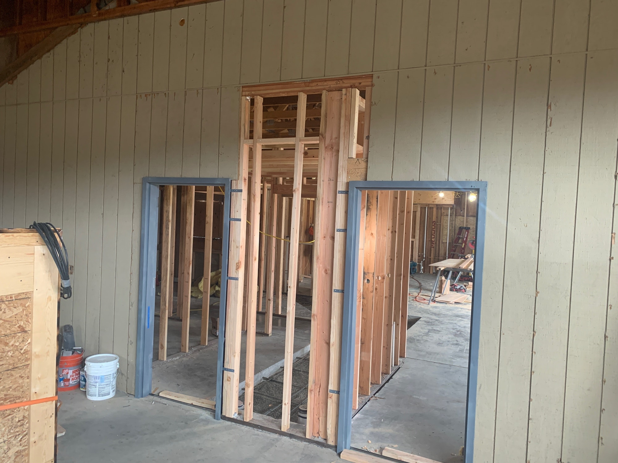 May contain: door, folding door, and wood