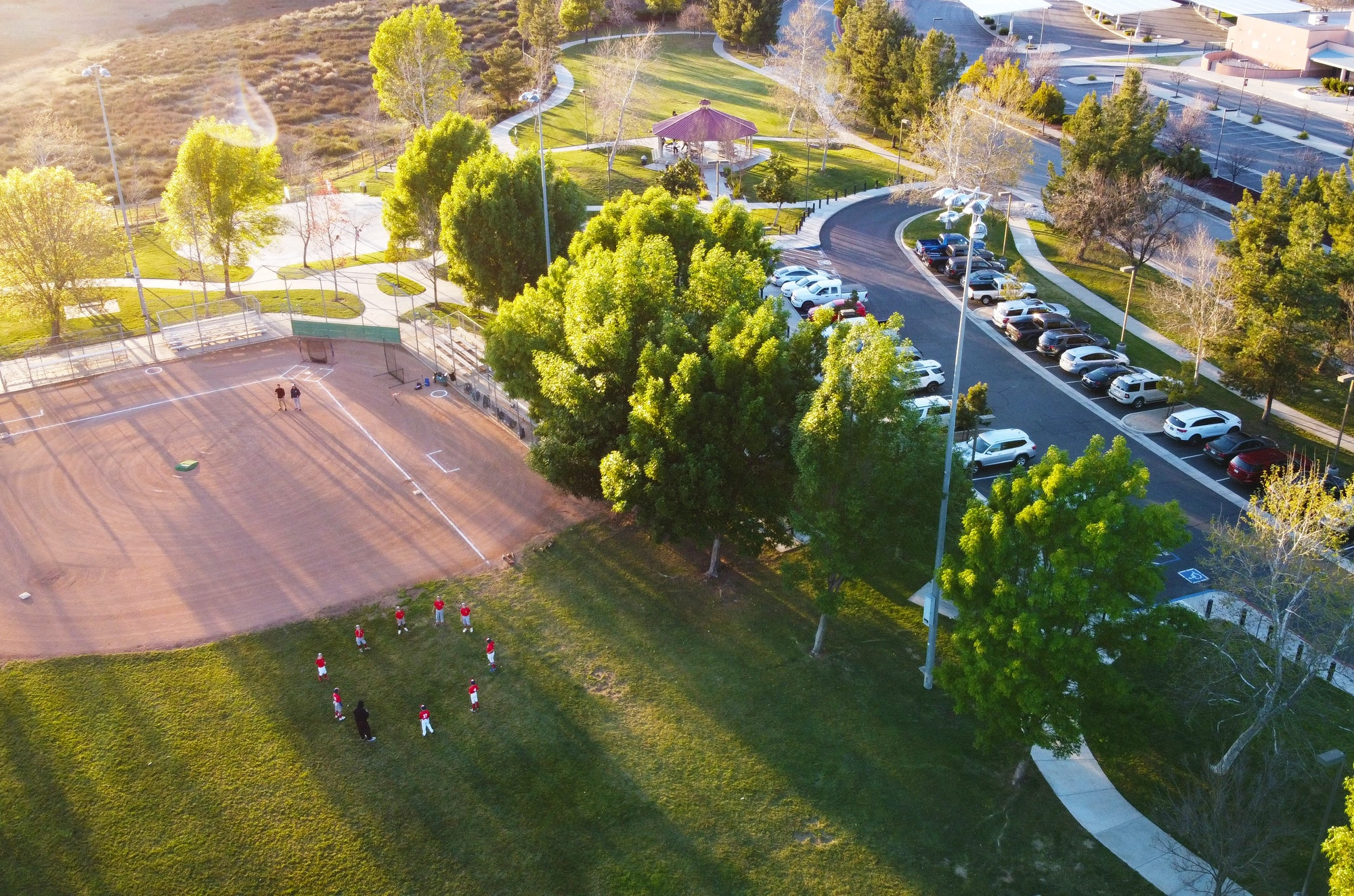 Rancho Belevista Baseball Diamond Aerial View