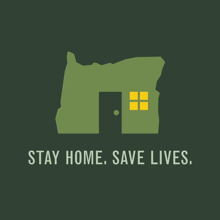 Oregon COVID-19 Stay Home Logo