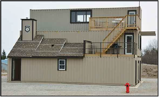 example fire training building made with conex boxes