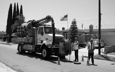 sewer maintenance truck