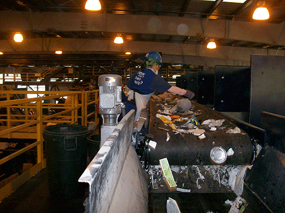recycling process center