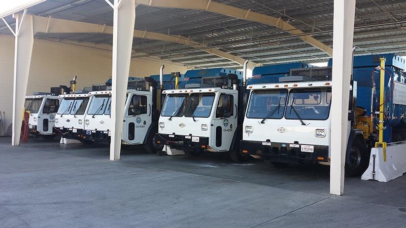 CNG truck fleet