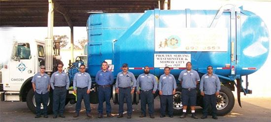 Crew in front of truck