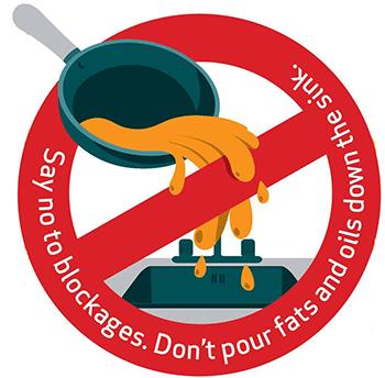 No fats oils down the drain
