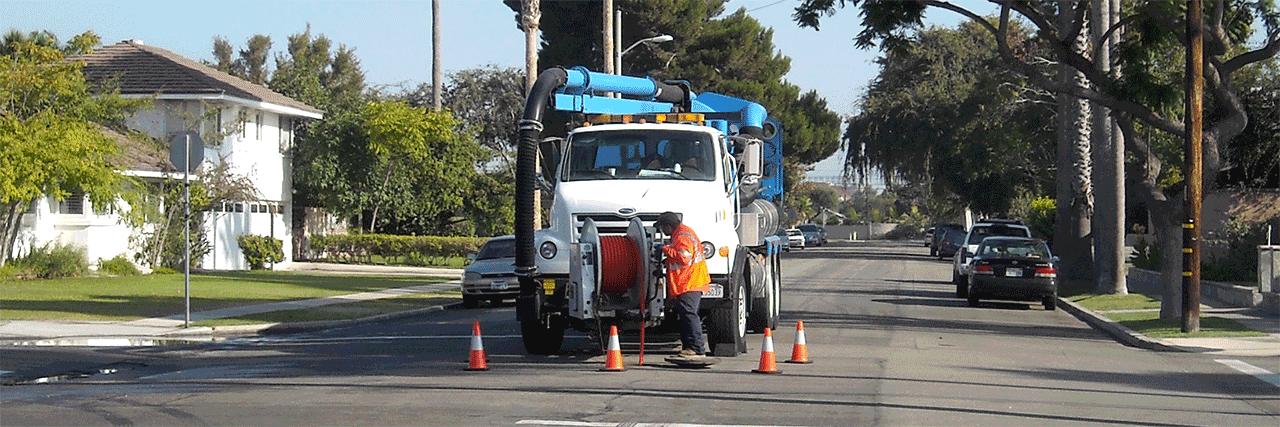 MCSD truck performing street service