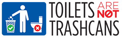 Toilets are not trash cans