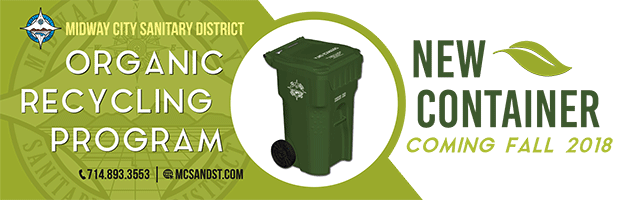 green container for organic recycling