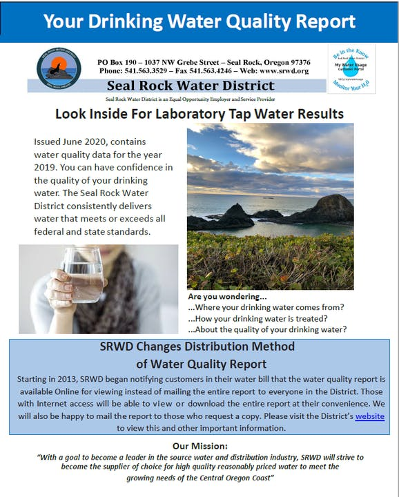 Water Quality Report screenshot