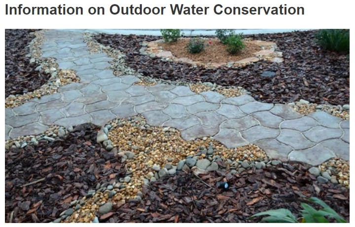 Picture of pebbles & stones to depict several dryscaping options to offer many benefits, which include less maintenance and a lower water bill