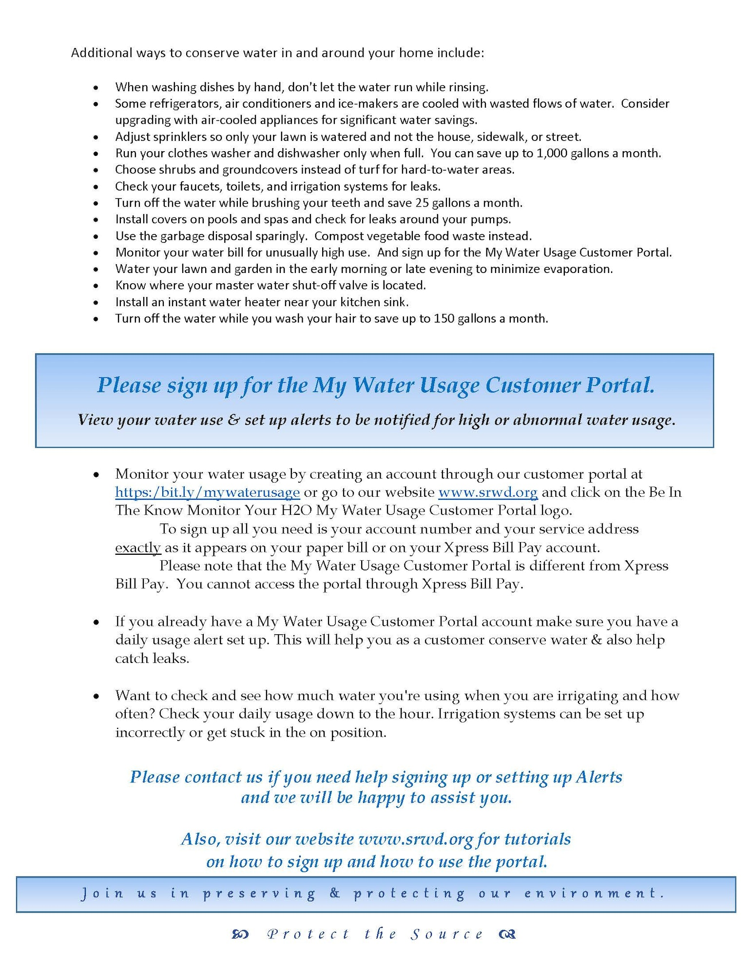 Image of Stage No. 2 Water Curtailment Advisory letter page two