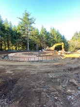 Picture of clearwell ringwall forms for beaver creek project