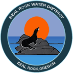 Image of Seal Rock Water District logo with seal pup and sun and rock