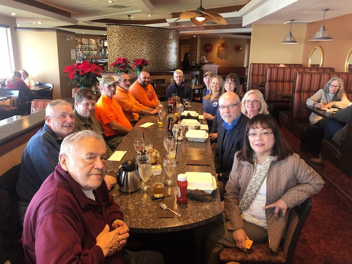 Picture of Seal Rock Water District staff employee luncheon at Georgies restaurant