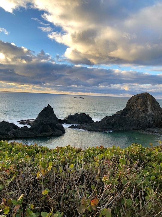 Image of ocean & rocks off the Seal Rock coastline