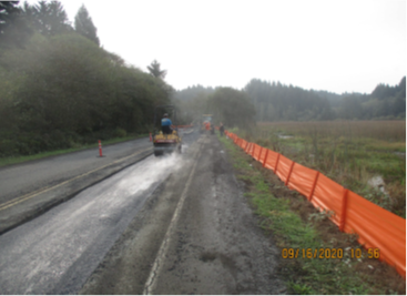 Picture of trench resurfacing along Beaver Creek Road