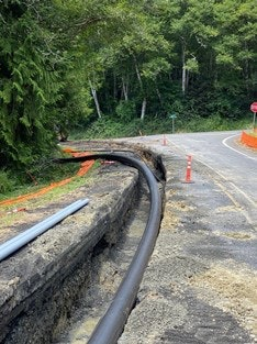 Picture of raw water pipeline installation along Beaver Creek Road