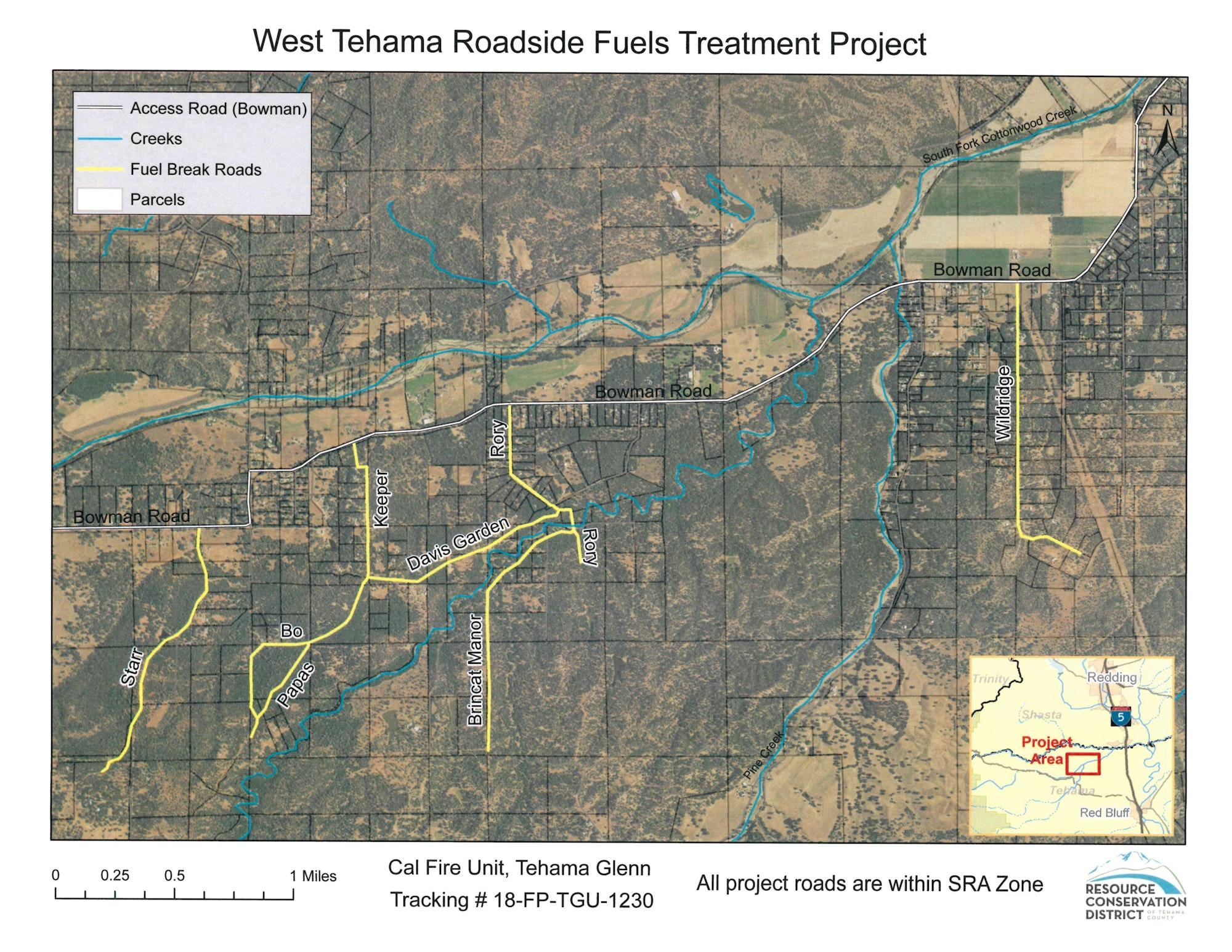 west tehama project map