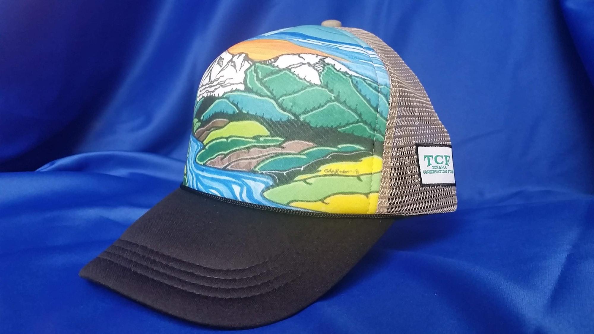 May contain: clothing, apparel, cap, hat, and baseball cap