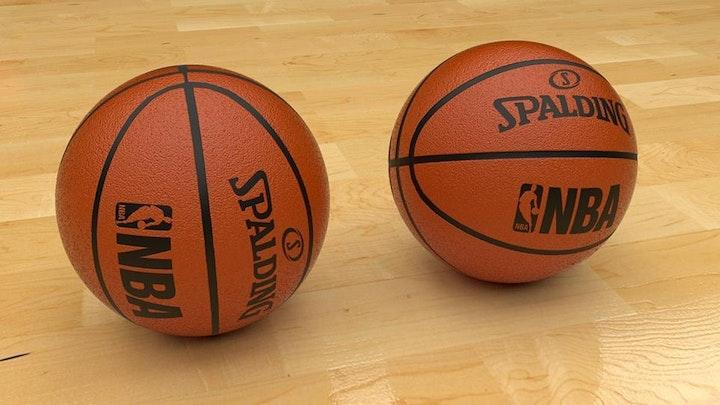 Pee Wee Basketball, Two basketballs on a gym floor