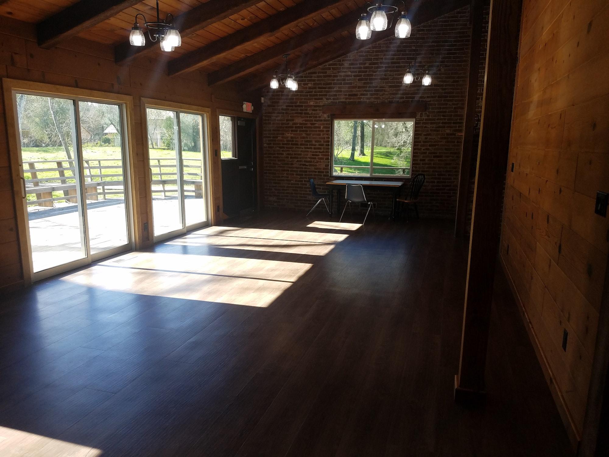 May contain: flooring, floor, wood, housing, building, hardwood, loft, and indoors
