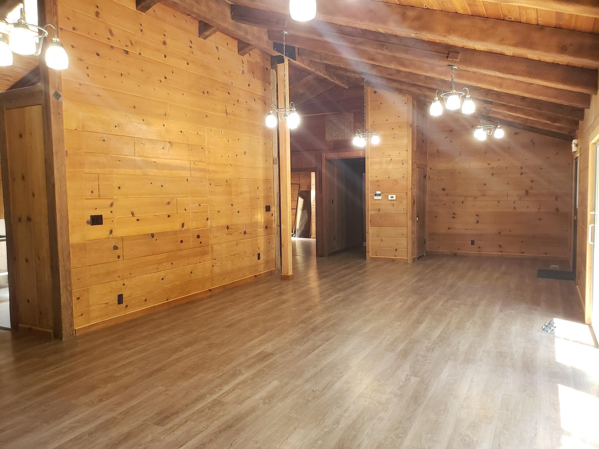 May contain: floor, flooring, wood, room, indoors, and hardwood