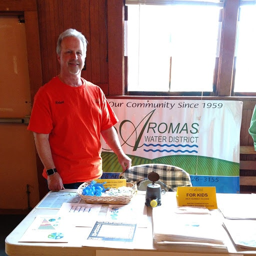 Rob Johnson, General Manager. Attending a local Energy Awareness Show